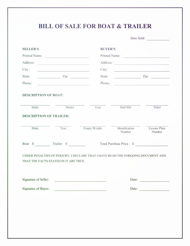 Bill Of Sale Alberta Template Bill Of Sale Alberta Template - boat bill of sale