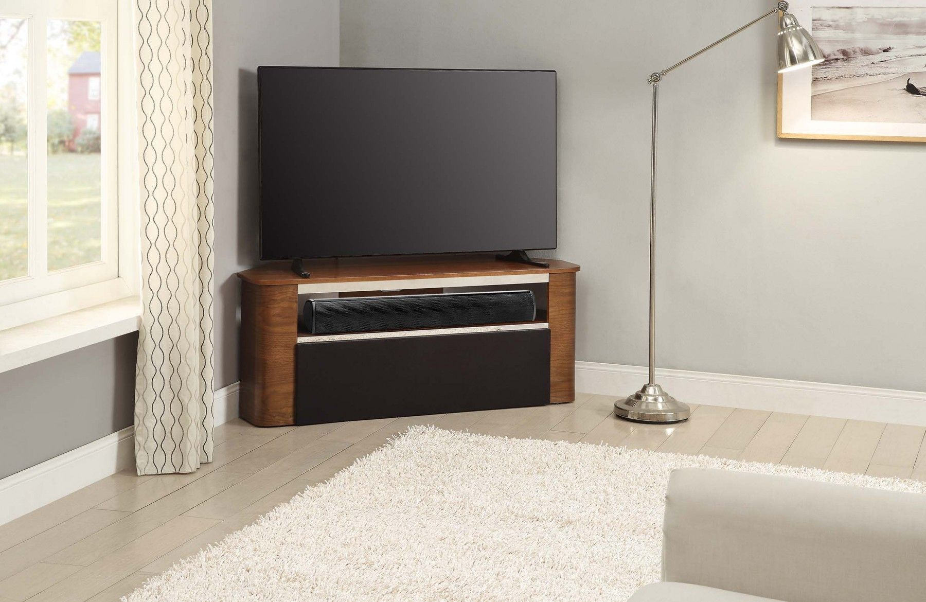 Jual Furnishings Jf708 Walnut Acoustic Tv Stand It Allows You To