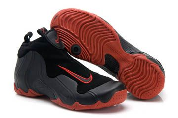 hot sales 4fe3f 48eb1 Nike Air Flightposite 1 Basketball Shoes Black Anthracite Red Eggplant