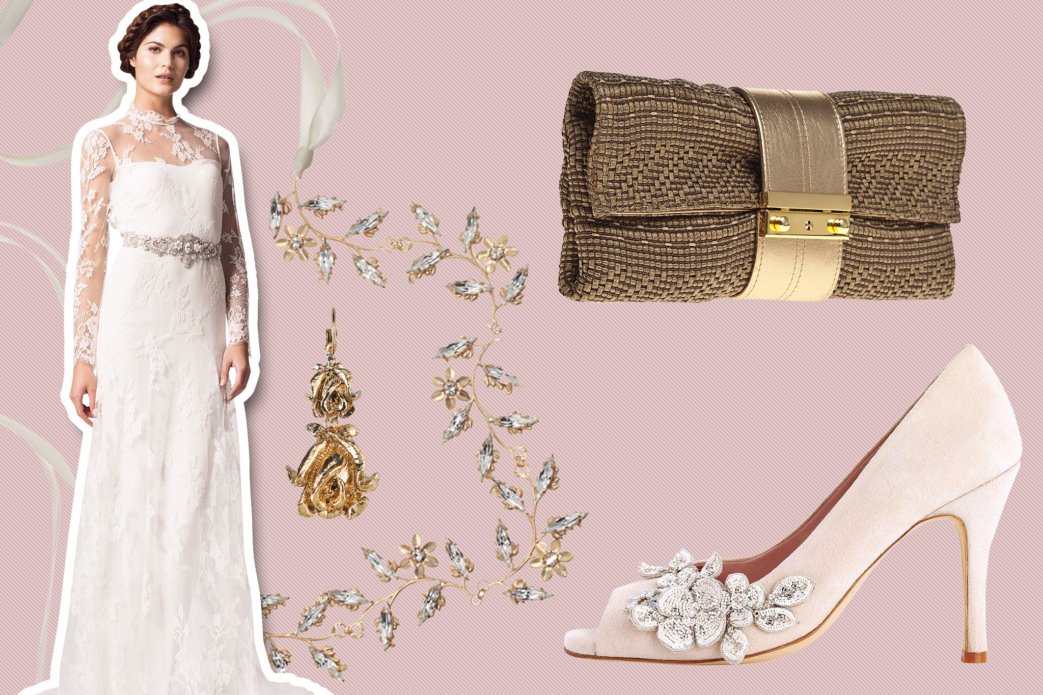 5841fd93c Wedding gown & accessories for a vineyard wedding. Find the Perfect Gown &  Accessories to Match Your Venue ...