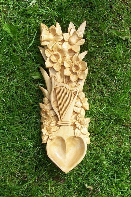 .beautiful and intricate love-spoon