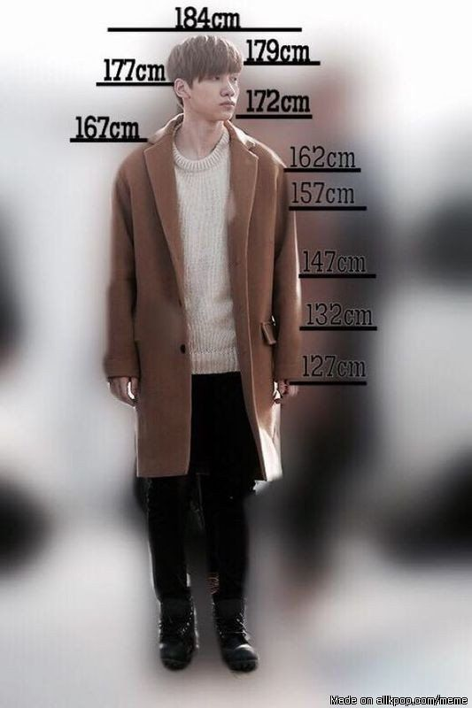 Compare your height with hyuk lifetime goal meet vixx just to finally know how it feels be small also rh pinterest