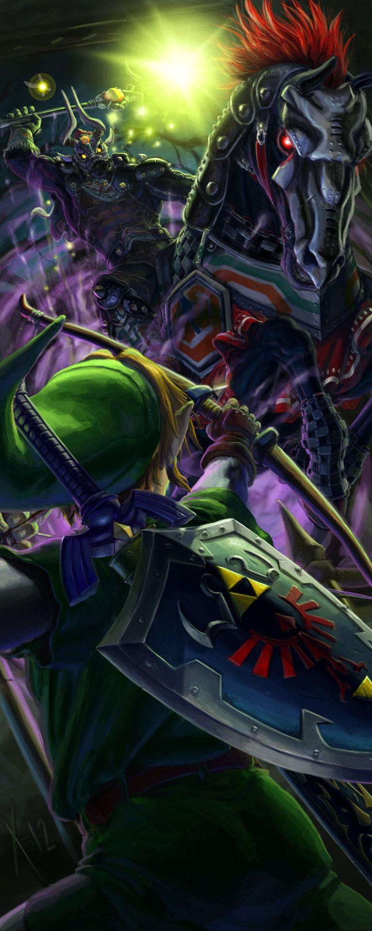 Link vs Phantom Ganon Ocarina of time, Zelda art