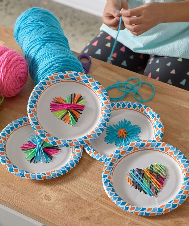 Diy Craft Ideas For Toddlers: Paper Plate Weaving Free Craft Pattern LM6162