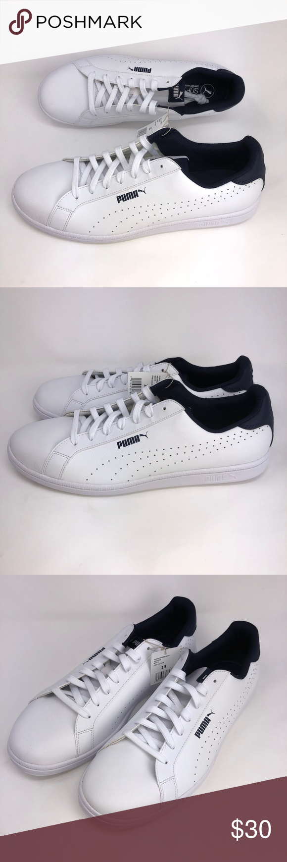 Puma Smash Perf C Men s Sneaker Tennis Shoes White Puma Smash Perf C Men s Sneaker  Classic cedc8b396