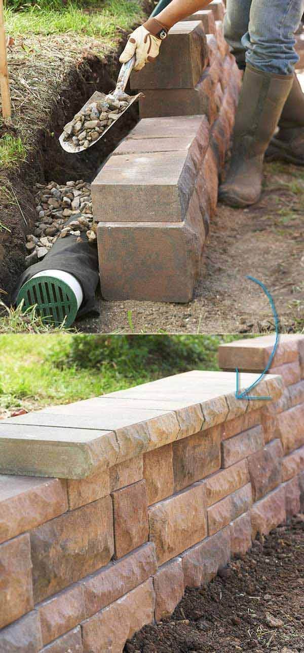 35 Inspiring Retaining Wall Ideas Uses That Will Blow Your Mind Landscaping Retaining Walls Diy Retaining Wall Retaining Wall