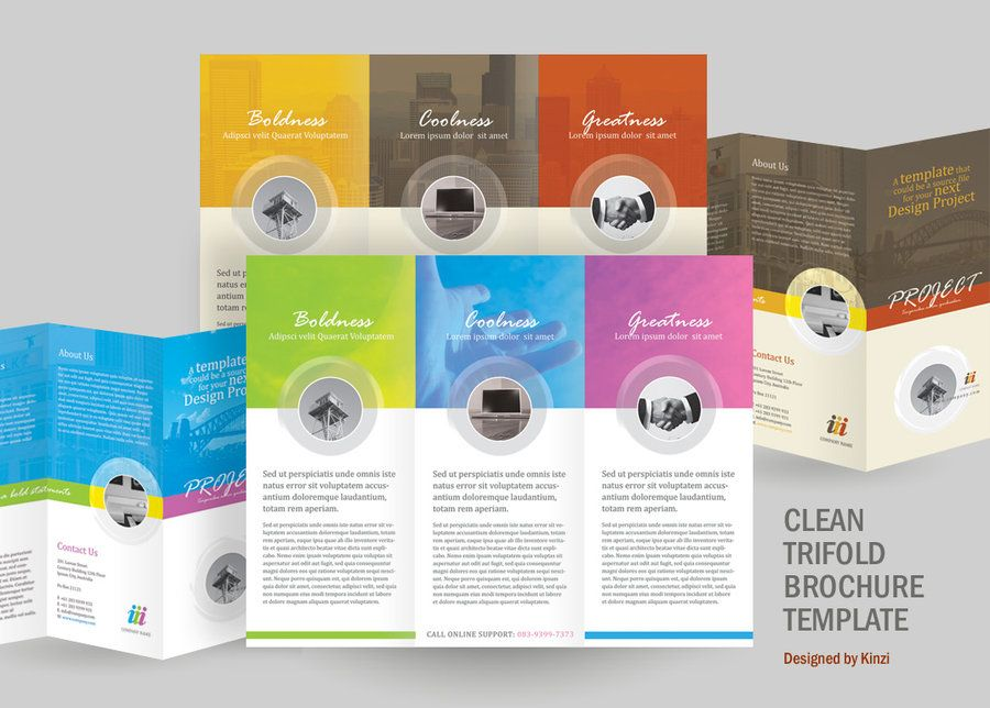 A Perfect Minimalist 8.5 X .5.5 Corporate Tri-Fold Brochure. The