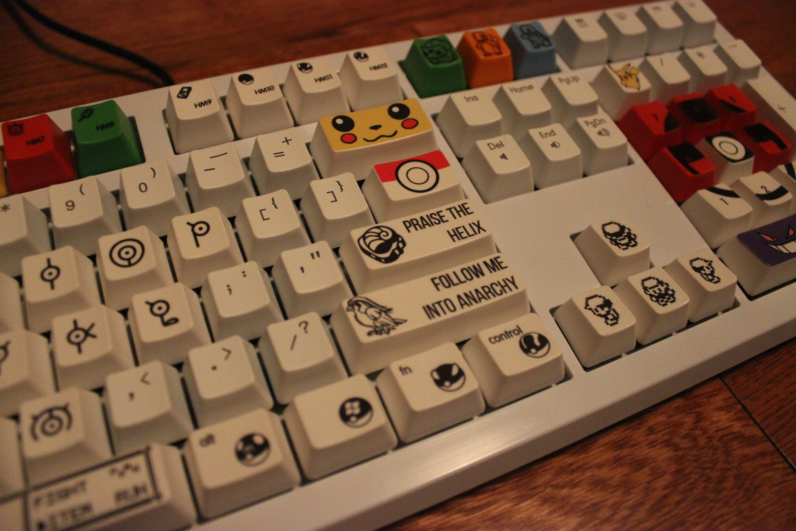 Custom Pokemon Mechanical Keyboard, by u/Str0ngmachine