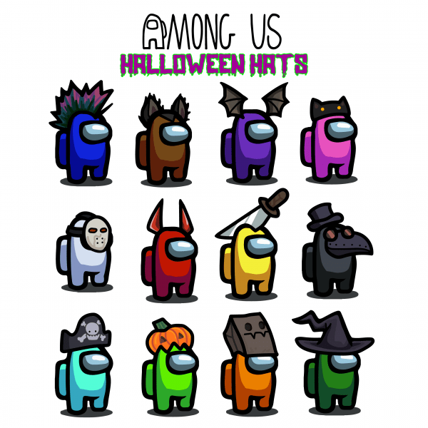 Among Us Vector - Halloween Hats + Bonus | Vectore