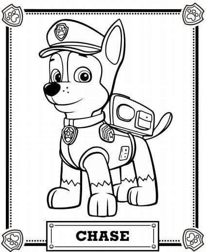 Colouring Page Paw Patrol Coloring Pages Paw Patrol Coloring Chase Paw Patrol