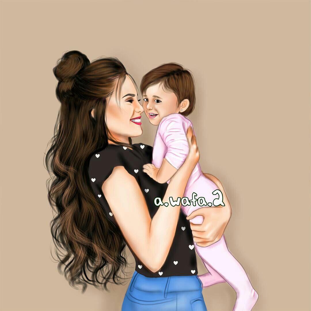 Pin By Kartika Satyaatmadja On Figuren Mother Daughter Art Mother Art Mom Art