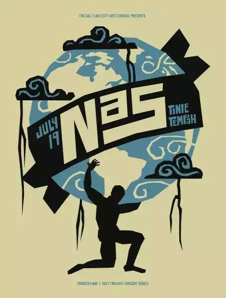 THE ABSOLUTE HOTTEST AND MOST CREATIVE HIP HOP GIG POSTERS: Nas