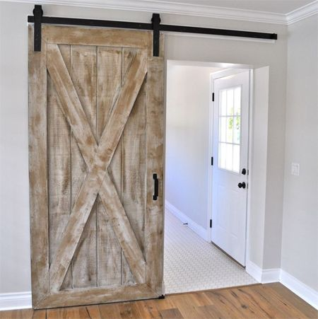 Exceptional Instructions Make A Barn Style Sliding Door Or Fit Sliding Door Kit   Or  Make Sliding