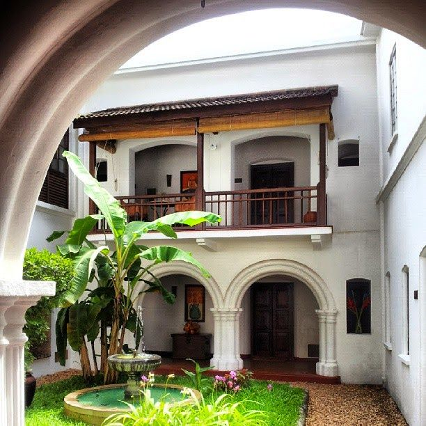 Dominar Cochin Home: The Internal Courtyard At 'The Old Harbour House' In Fort
