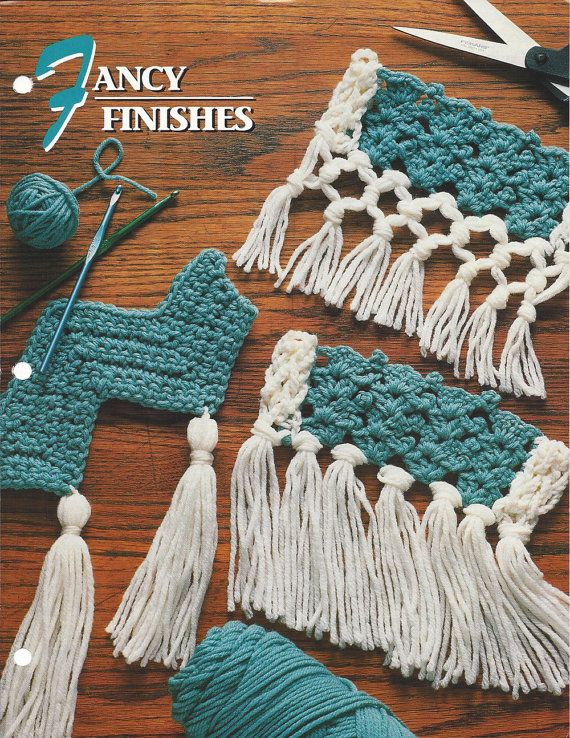 Cojines A Ganchillo Fancy Finishes Pattern For Afghan Tassels, Fringe, Knots