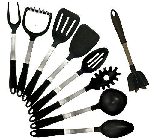 Kitchenaid Potato Masher the kitchen queen 9 piece stainless steel cooking utensils set