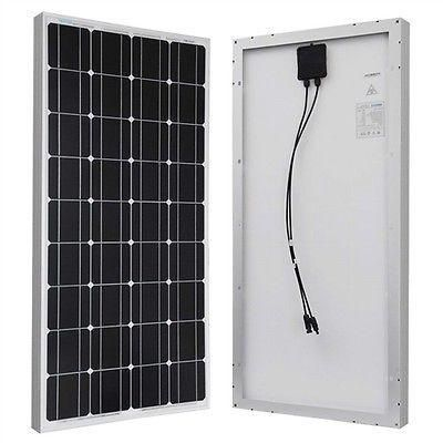 100 Watt Solar Panel 12v Battery Charging Rv Camping 100 Watt Solar Panel Solar Panels Rv Solar Power