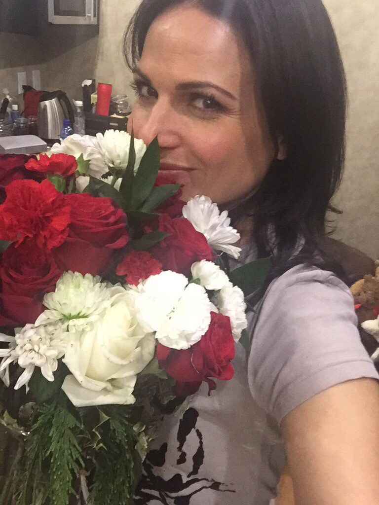Awesome Lana with her beautiful flowers #Vancouver BC Wednesday 12-16-15