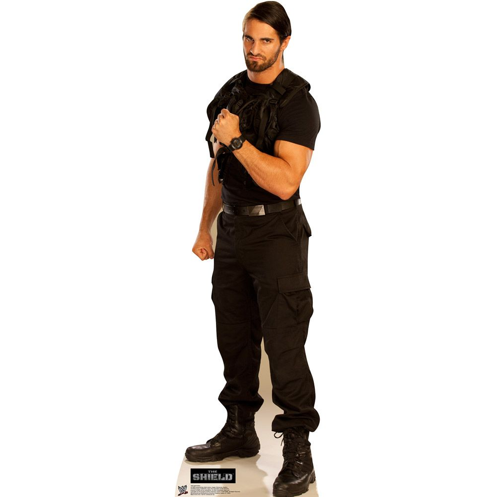 wwe the shield seth rollins standee | The Shield (WWE ...