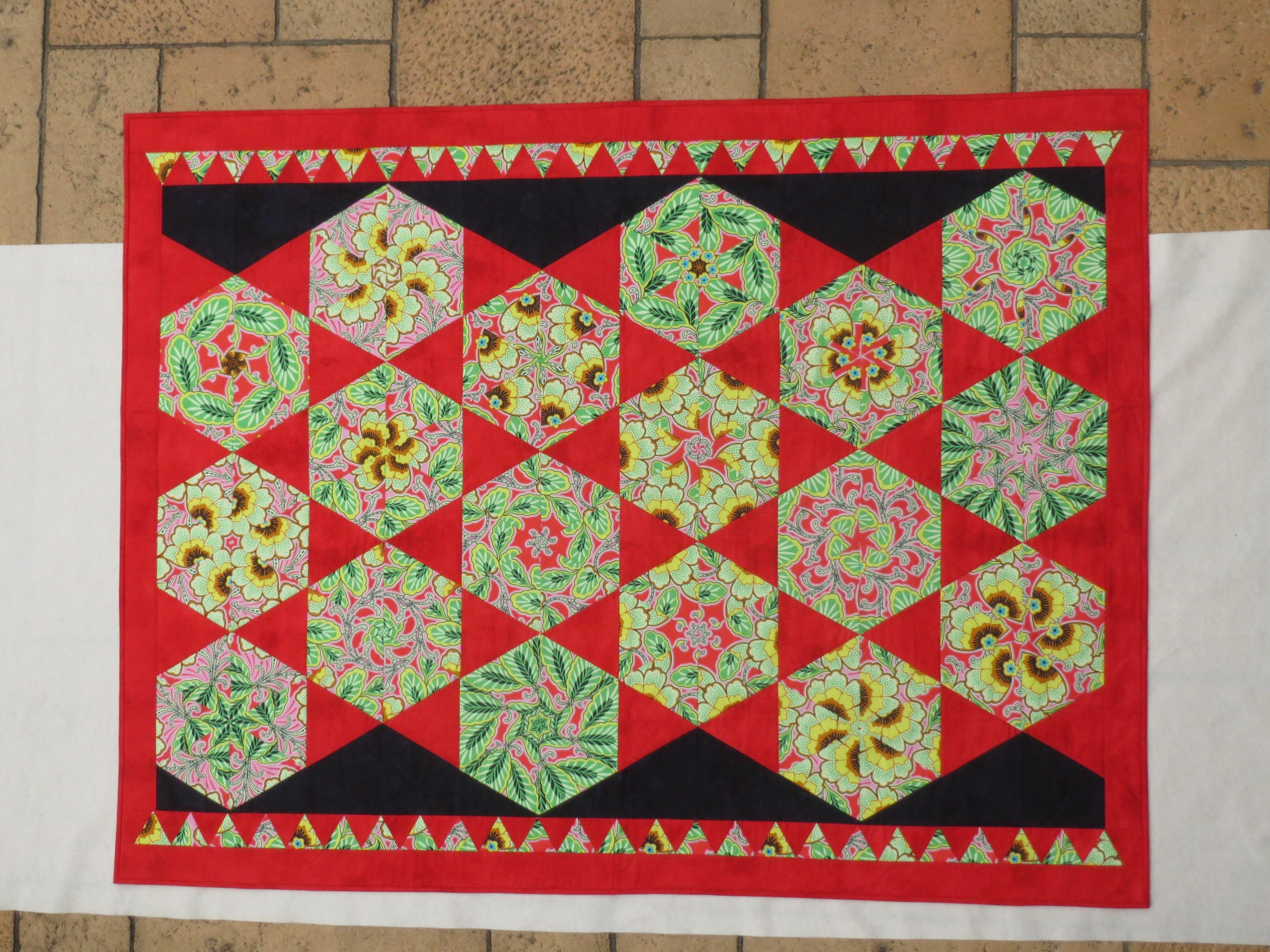 Quiltdecke Kaleidoskop, ca 150 x 200cm