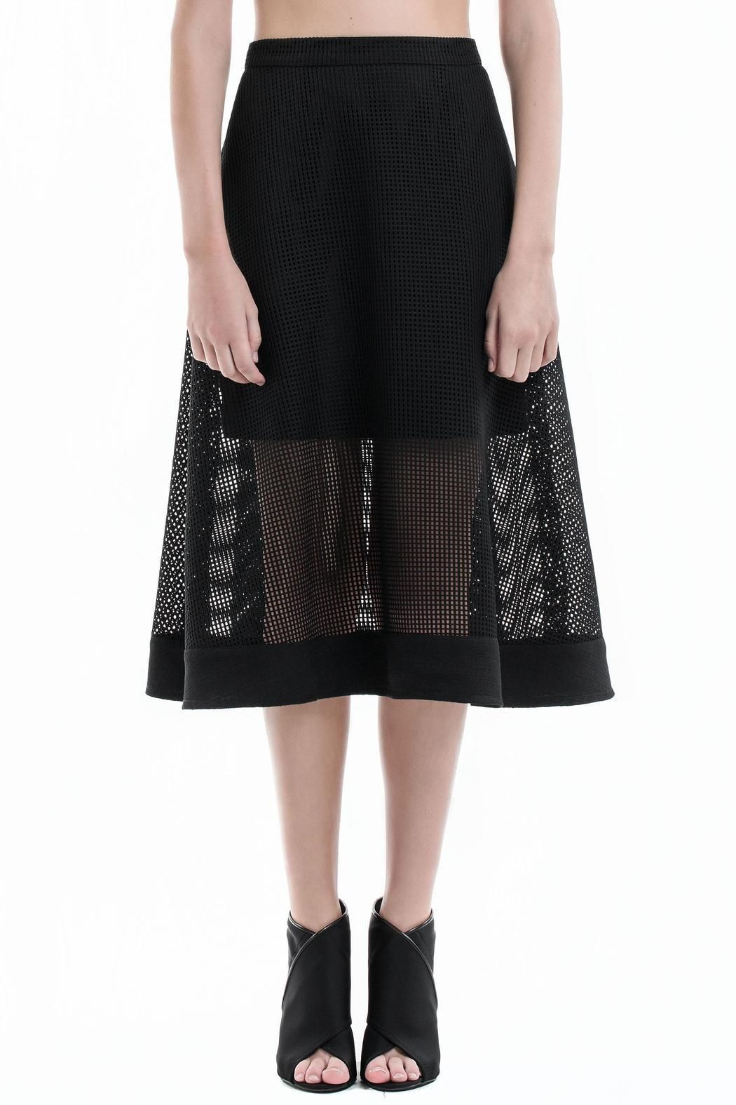 a6b001b8c4 Classic and ultra feminine this high waisted midi skirt is crafted from  fine Japanese lace,