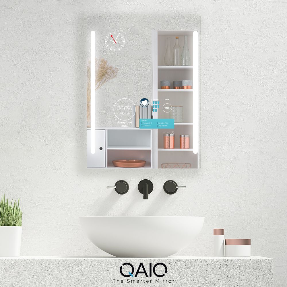 Qaio Cabinet Smart Mirror Is A Package Of Three Vanity Mirror Cabinet And A Tv Use It Any Way And Any Time You Want It Smart Mirror Mirror Vanity Mirror [ 1000 x 1000 Pixel ]