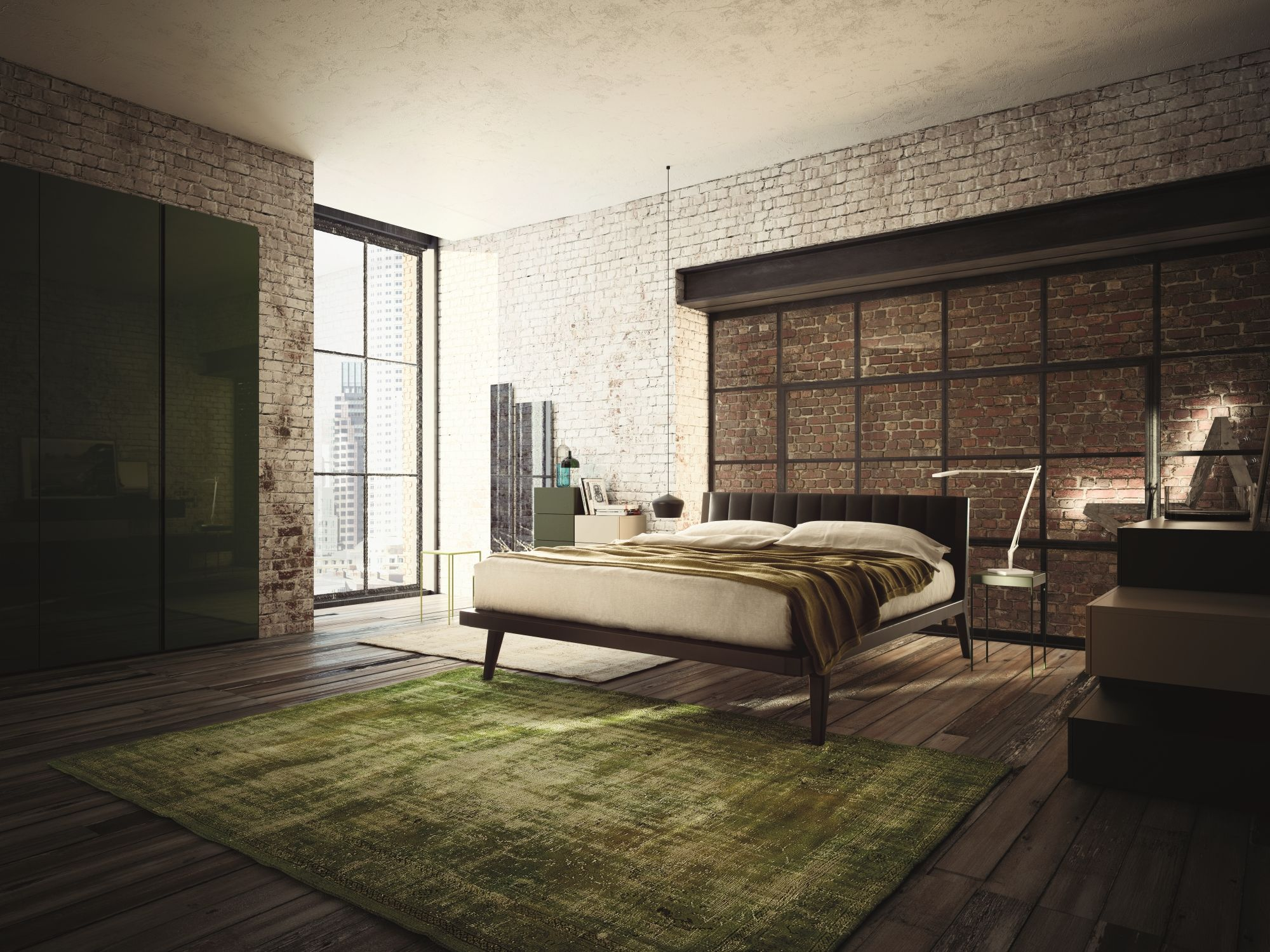 Industrial Interior Design Bedroom 8Emezzo's Light And Spacious Style With The City Bed  Home Pics I