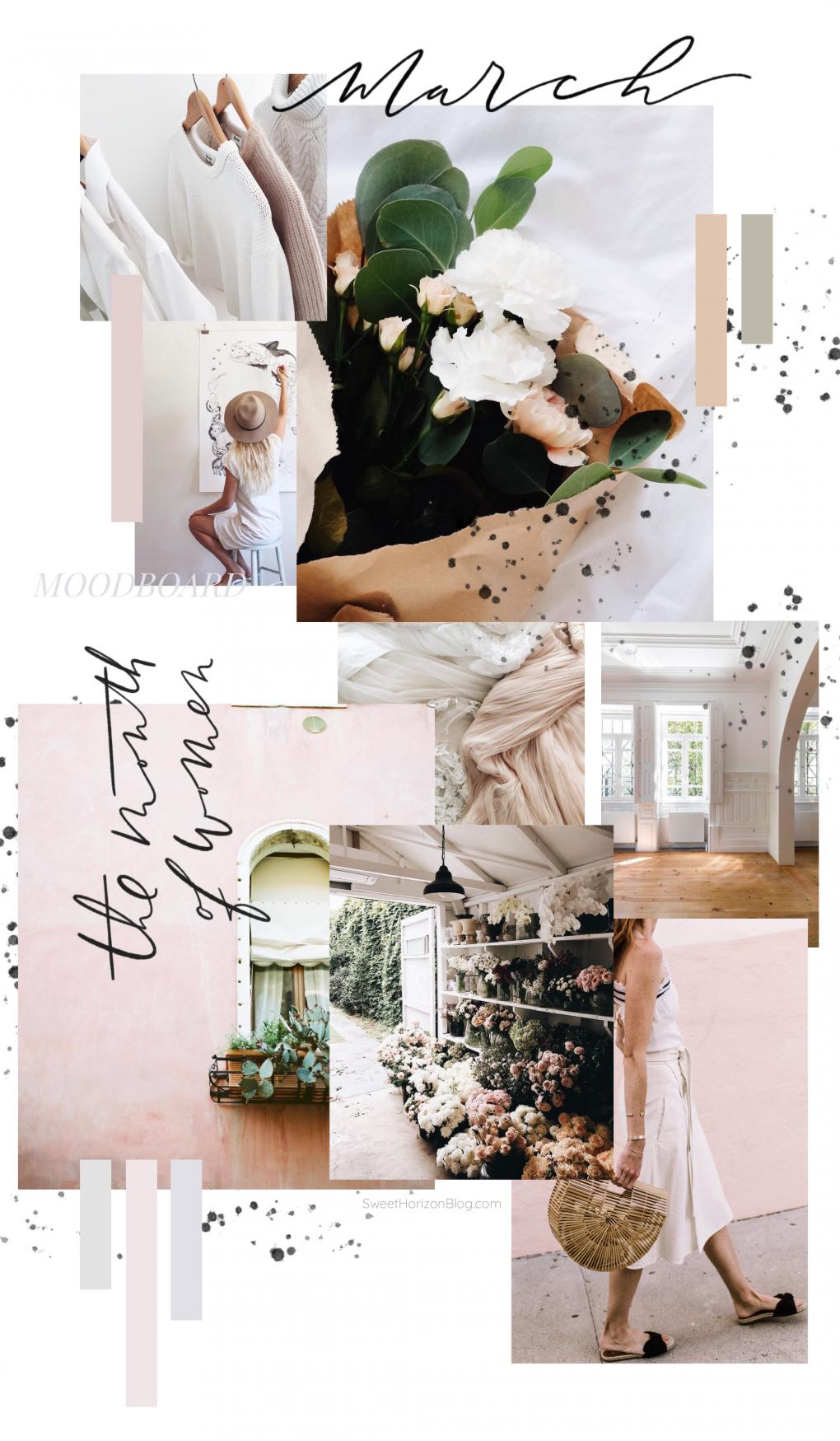 March Moodboard - Blush Tones » Sweet Horizon #moodboards