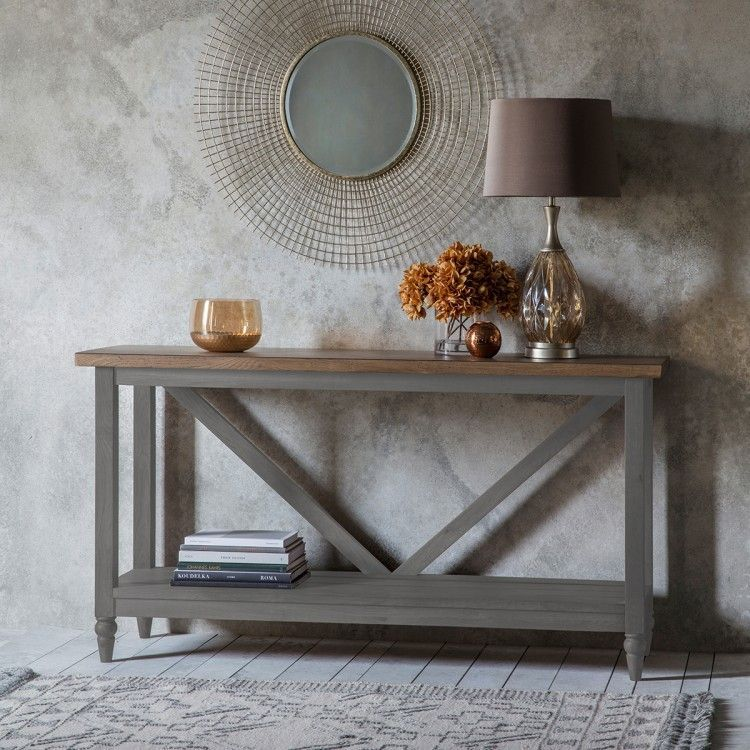 Cookham Grey & Oak Console Table in 2019 Gray console
