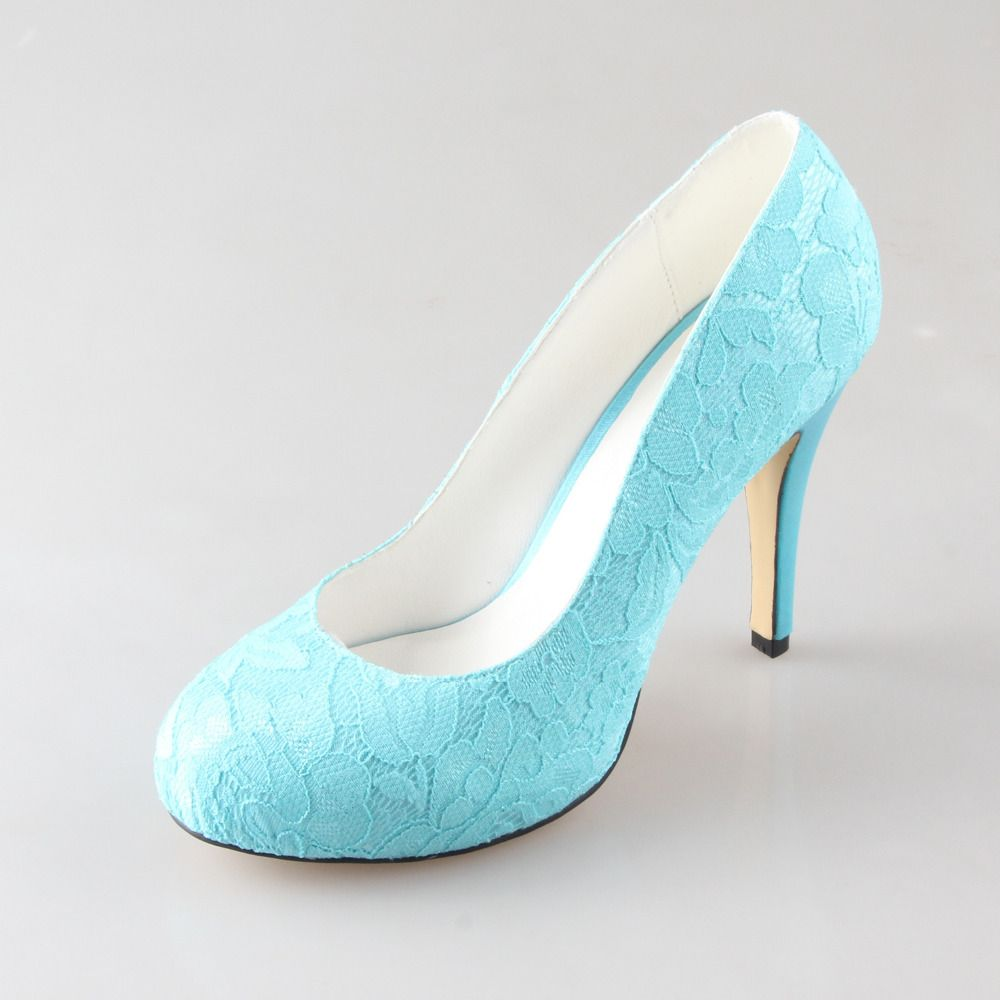 c880074d1c853 Find More Women's Pumps Information about Turquoise aqua lake blue ...