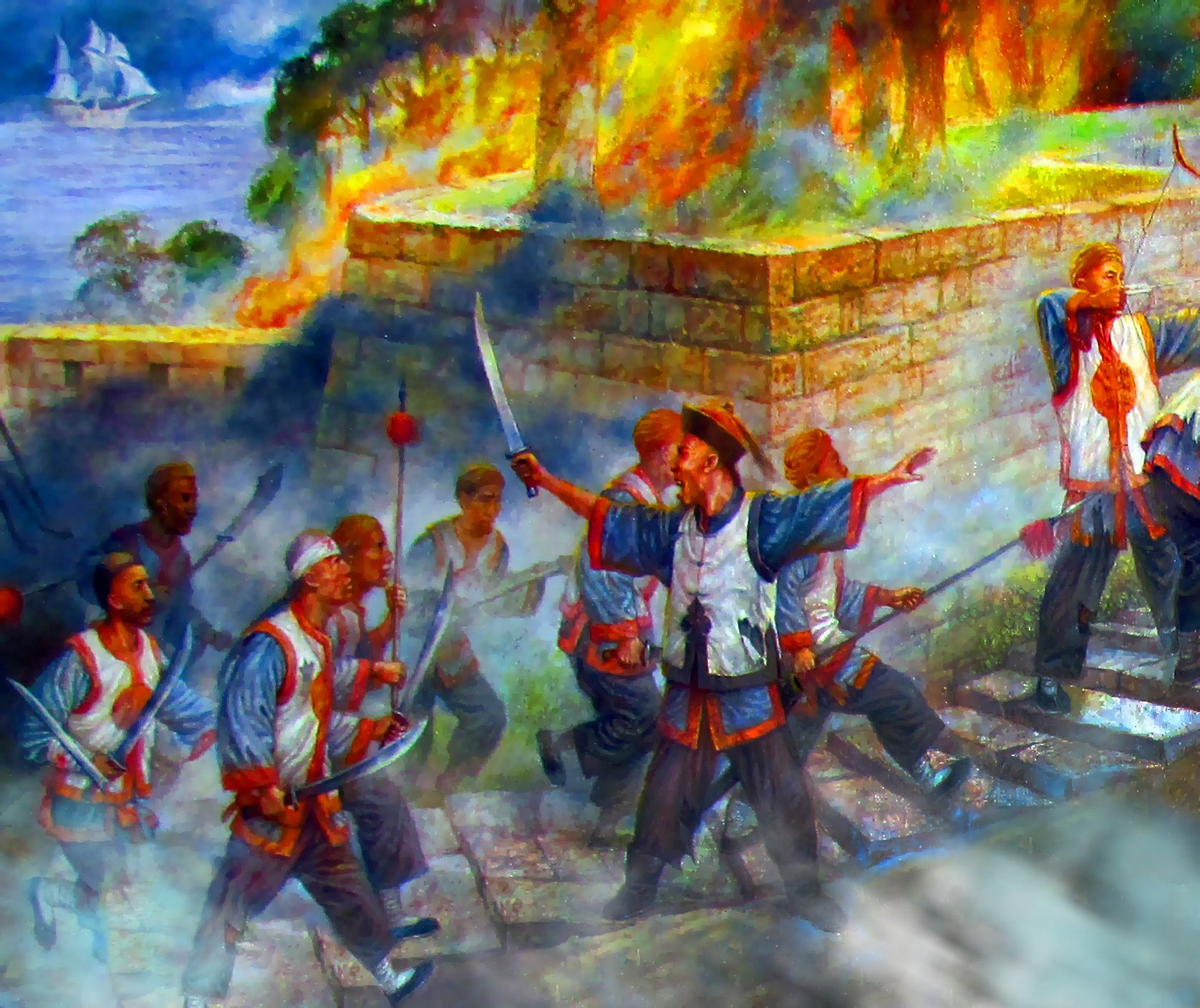 qing dynasty chinese troops defending a coastal fort during the  qing dynasty chinese troops defending a coastal fort during the first anglo opium