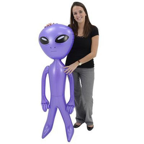 Inflatable Alien - Extra Large   Kids Blow Up Alien Toy