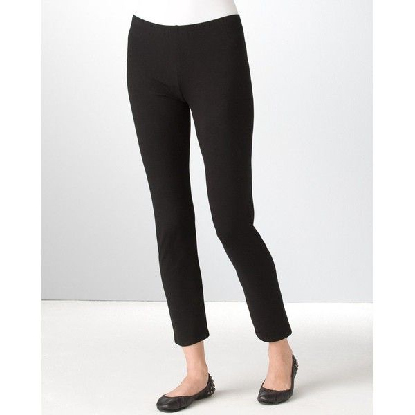 Eileen Fisher Petites' Stretch Organic Cotton Leggings (770 NOK) ❤ liked on Polyvore featuring pants, leggings, black, petite, black cropped leggings, cropped leggings, eileen fisher leggings, petite pants and stretch waist pants