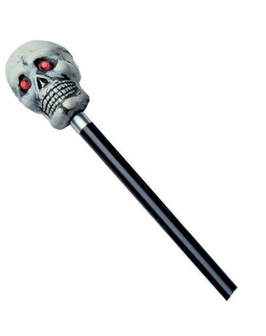 skull walking cane
