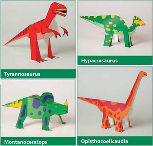 dinosaurs kiragami for kids easy to make paper toys