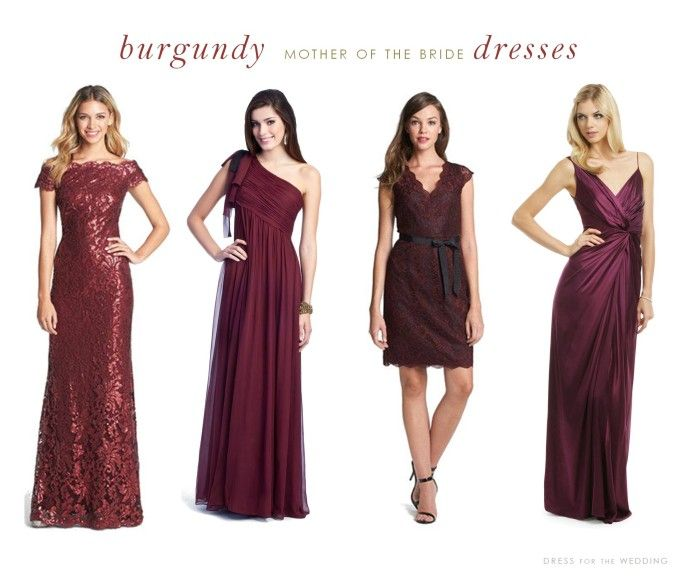 Red and Black Mother of Bride Dresses