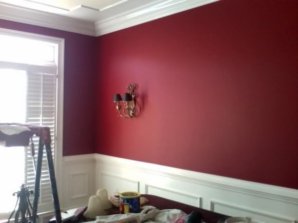 Dinner Party By Benjamin Moore I Love This Look For The Kitchen Dining Room Red Dining Room Dining Room Remodel Red Kitchen Decor