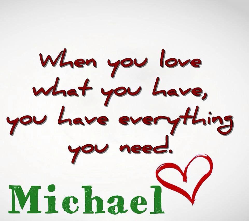 Michael xoxo
