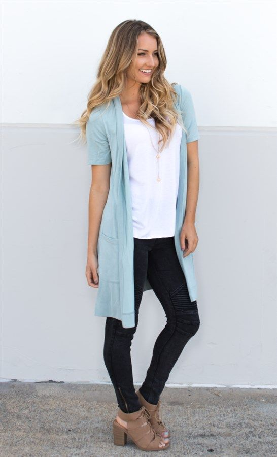 Short Sleeve Pocket Cardigan | 8 Colors | Short sleeves, Shorts ...