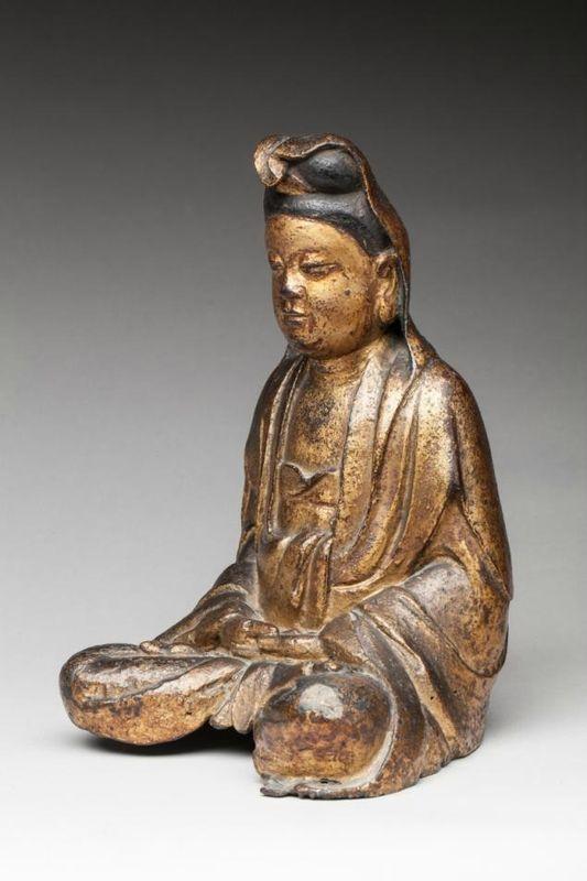 Bouddha en bronze patiné, Chine, époque Ming (1368 -1644), XVIIe siècle