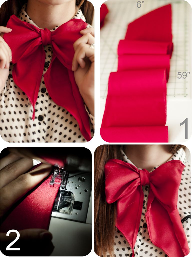 Wearing It On My Sleeves: DIY Retro Feminine Bow Tie