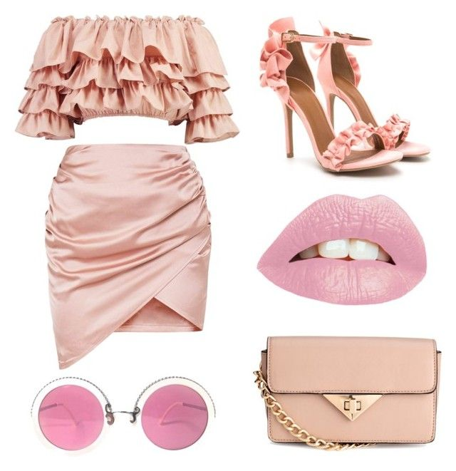 """pink"" by trashhfashion ❤ liked on Polyvore featuring Boohoo and Christian Lacroix"