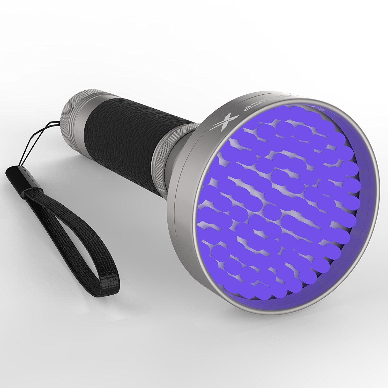 Powerful Black Light Flashlight 100 LED UV LightDetects