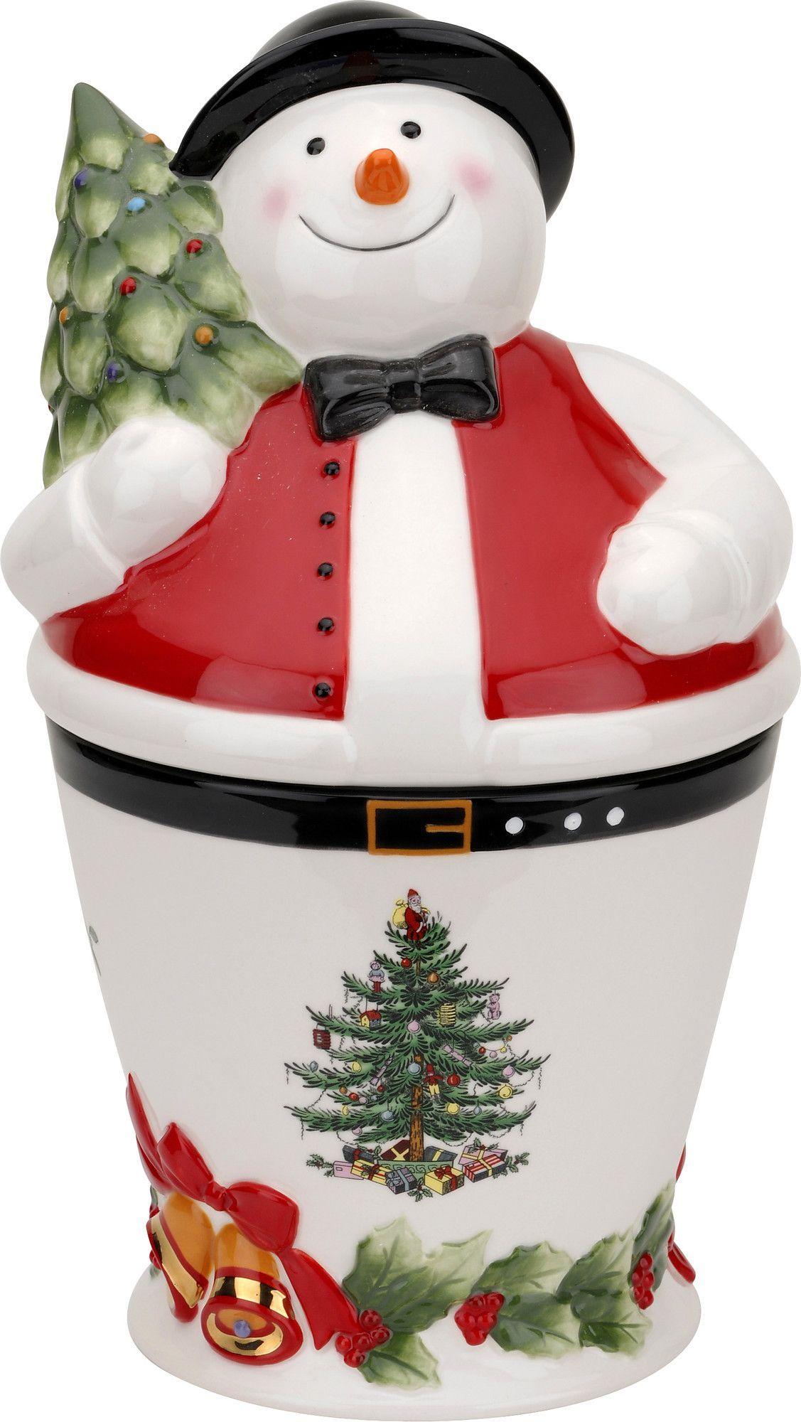 Christmas Tree Storage Jar Cookie Jar Snowman Snowman Cookies