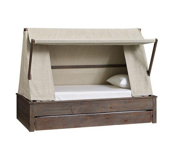 Best Wyatt Trundle Platform Bed Canopy Pottery Barn Kids 640 x 480