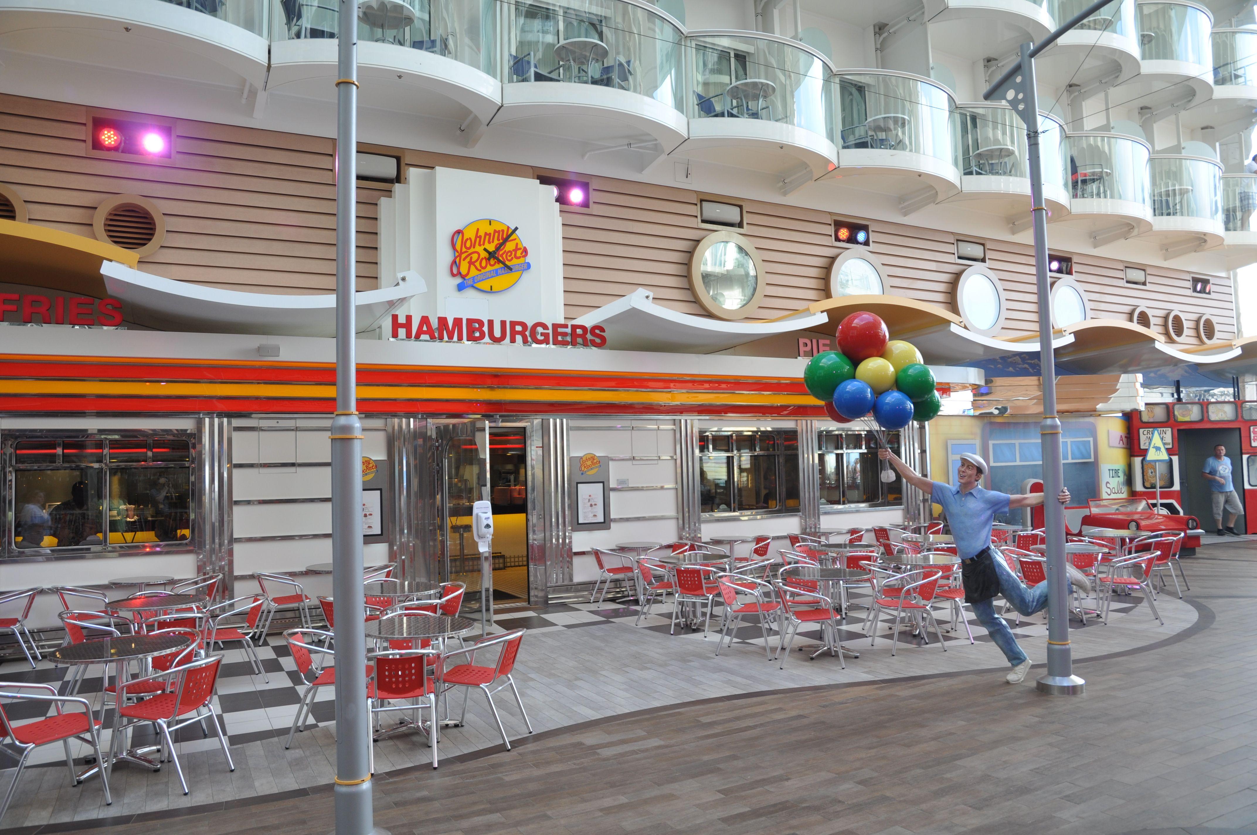Johnny Rockets Restaurant On Boardwalk Royal Caribbean S Oasis