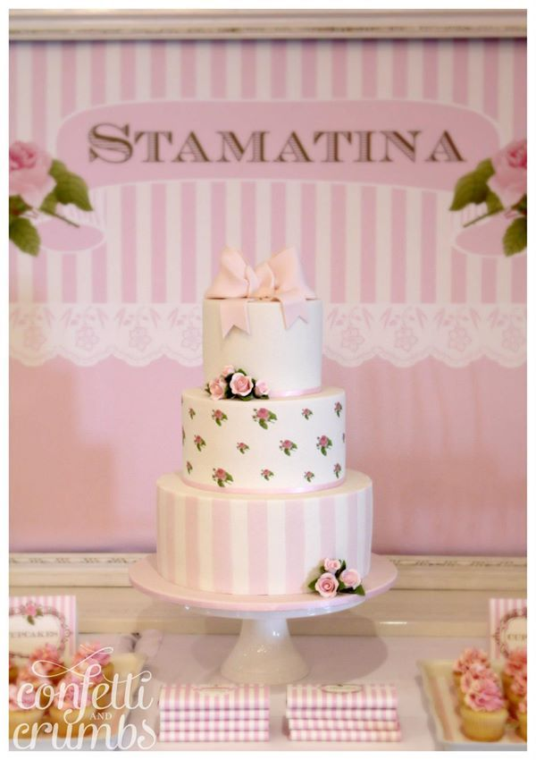 Pink Rosebud Cake