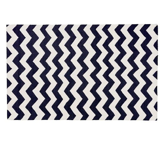 Chevron Wool Rug Navy Pottery Barn Kids 3x5 0 9 X