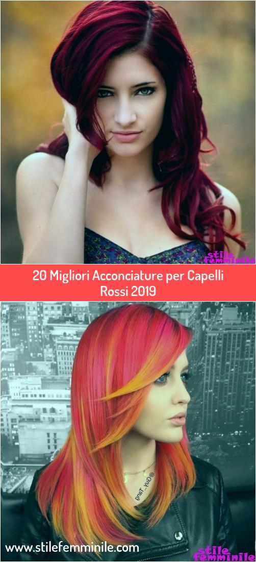 Photo of 20 Migliori Acconciature per Capelli Rossi 2019