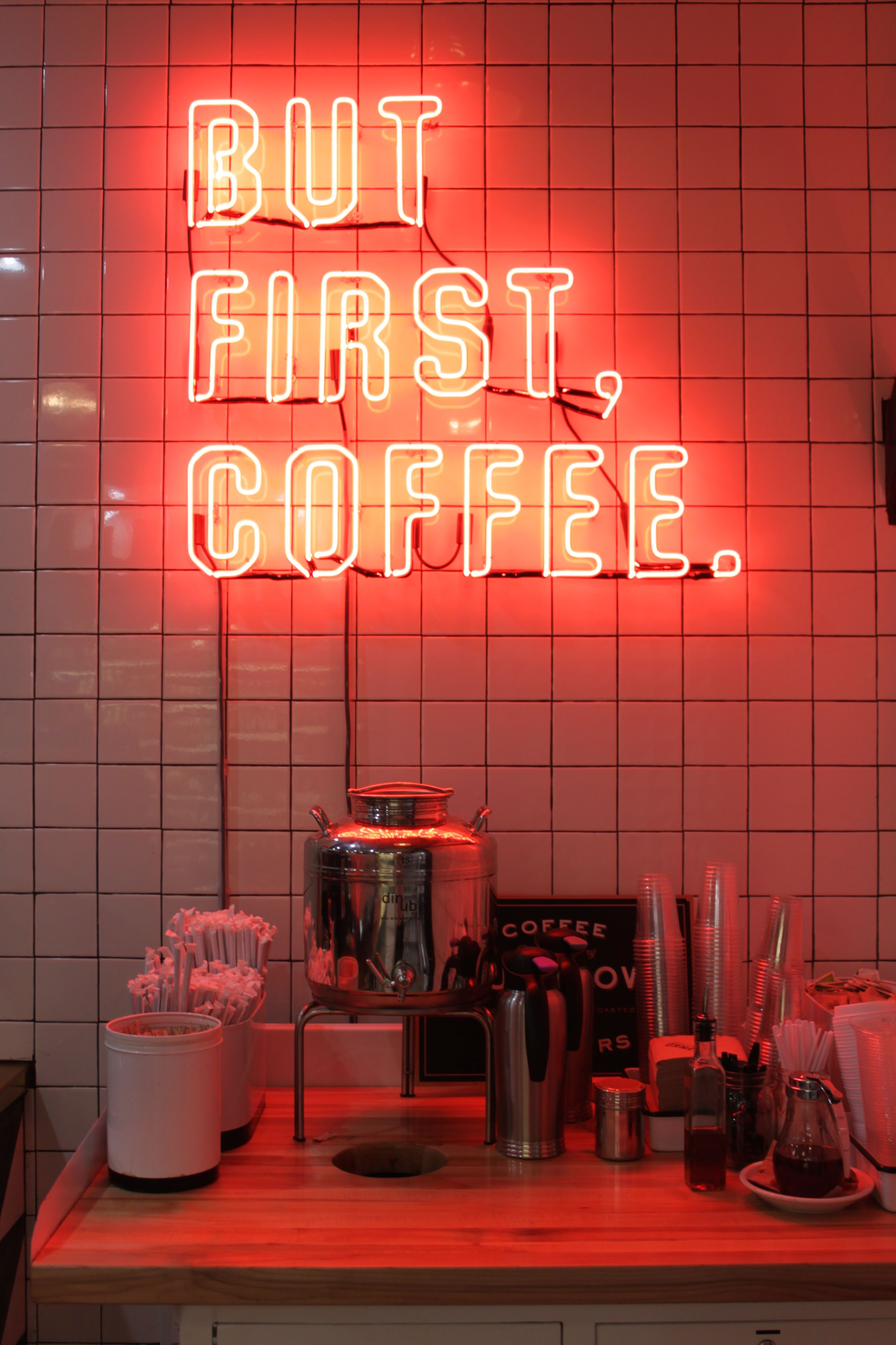 But first coffee | Neon signs, Neon wallpaper, Neon light ...